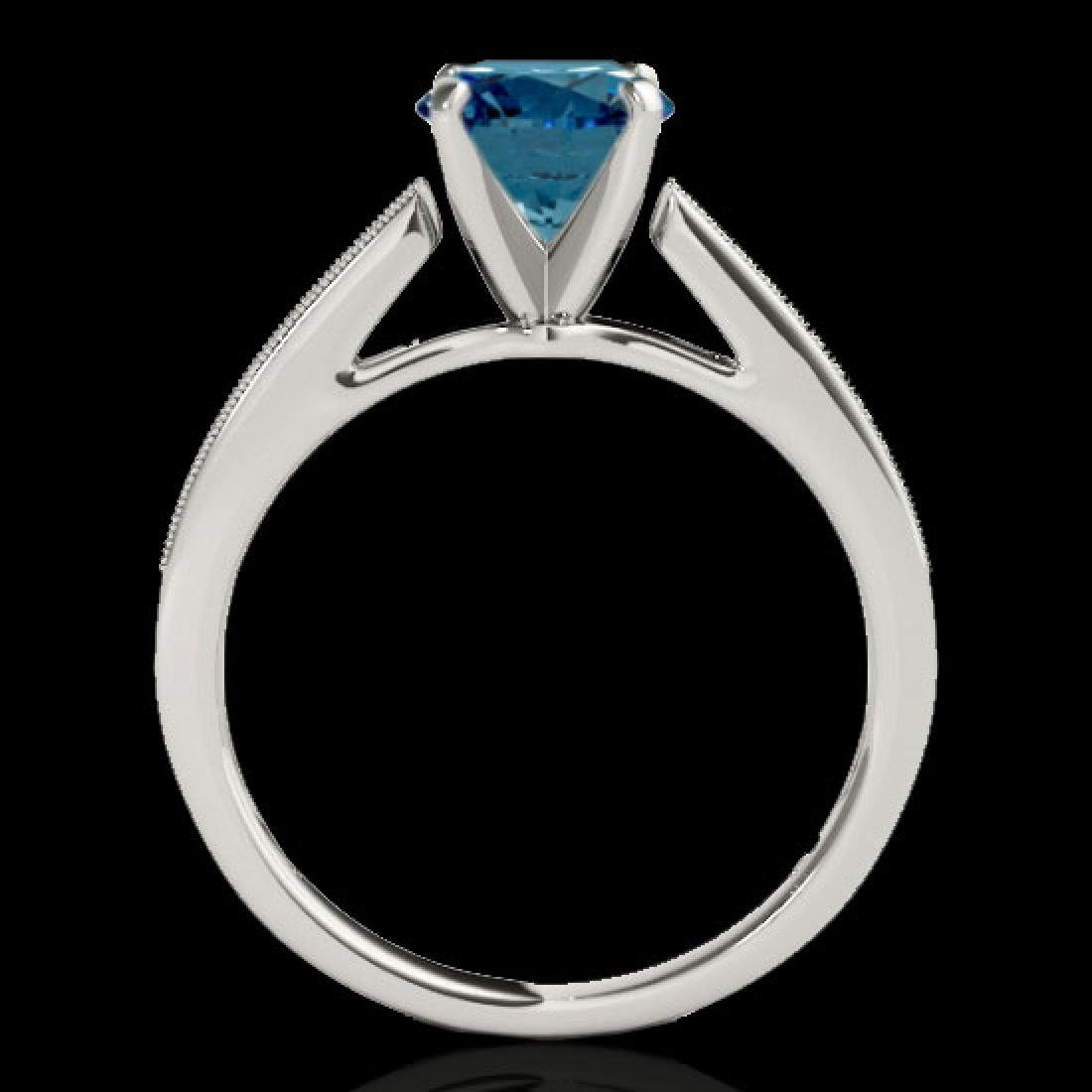 1.25 CTW SI Certified Fancy Blue Diamond Solitaire Ring - 2