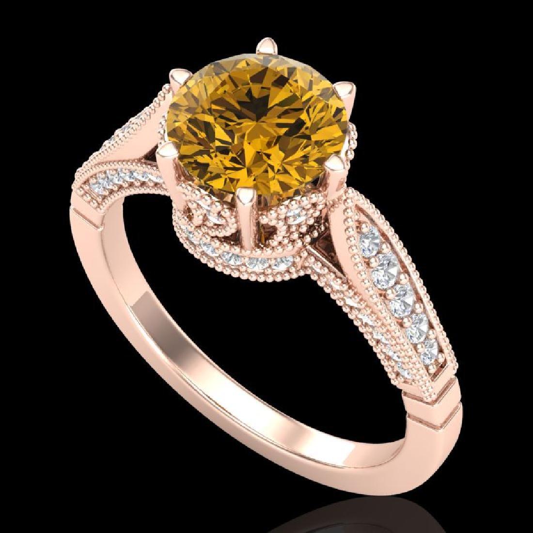 2.2 CTW Intense Fancy Yellow Diamond Engagement Art