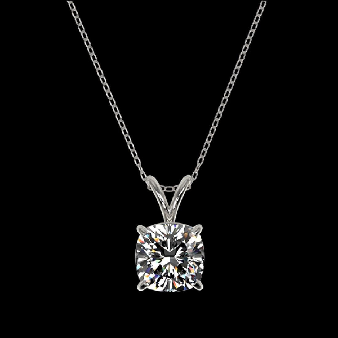 1.25 CTW Certified VS/SI Quality Cushion Cut Diamond - 3