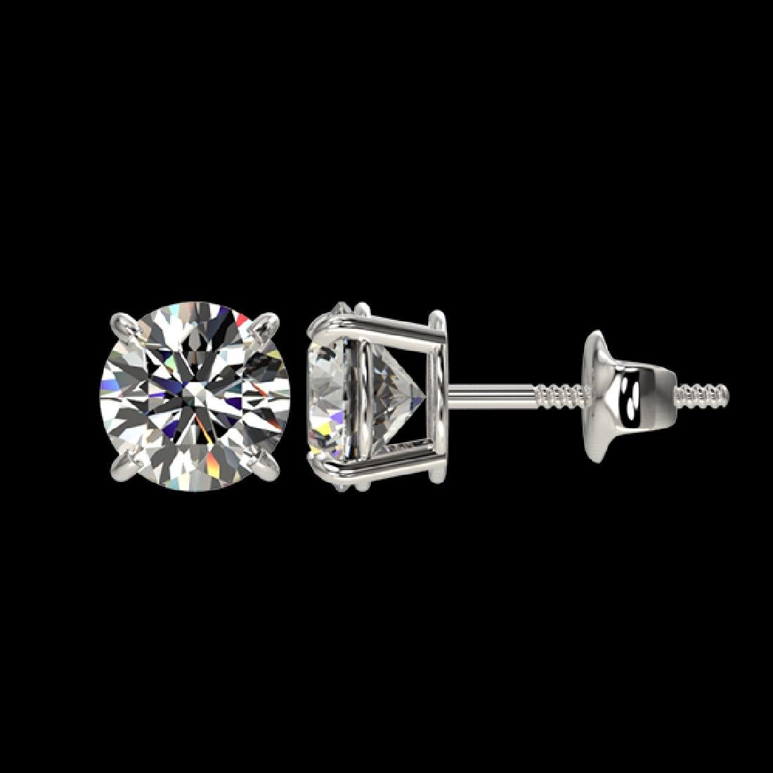 1.59 CTW Certified H-SI/I Quality Diamond Solitaire - 2