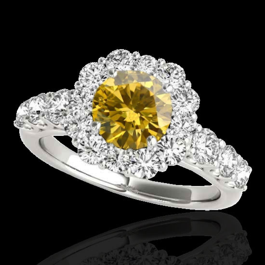 2.9 CTW Certified SI/I Fancy Intense Yellow Diamond