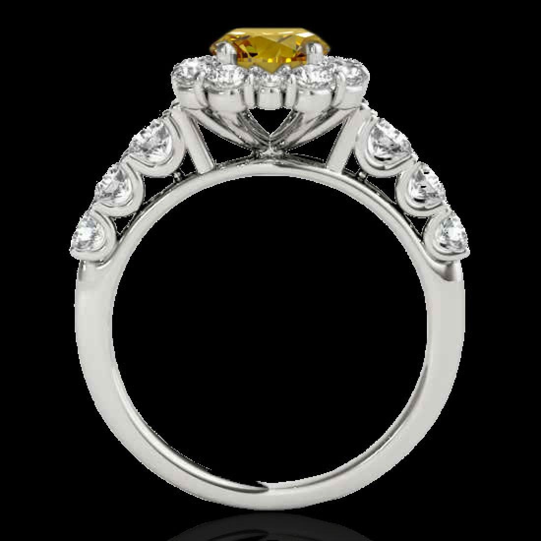2.9 CTW Certified SI/I Fancy Intense Yellow Diamond - 2