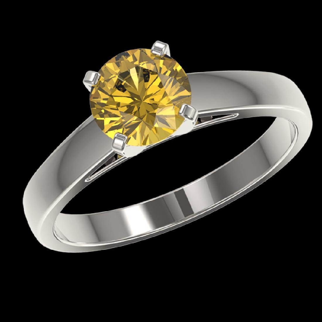 1.23 CTW Certified Intense Yellow SI Diamond Solitaire - 2
