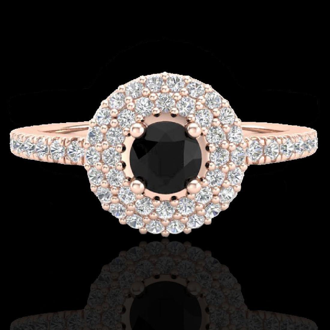0.80 CTW Micro VS/SI Diamond Designer Ring 14K Rose