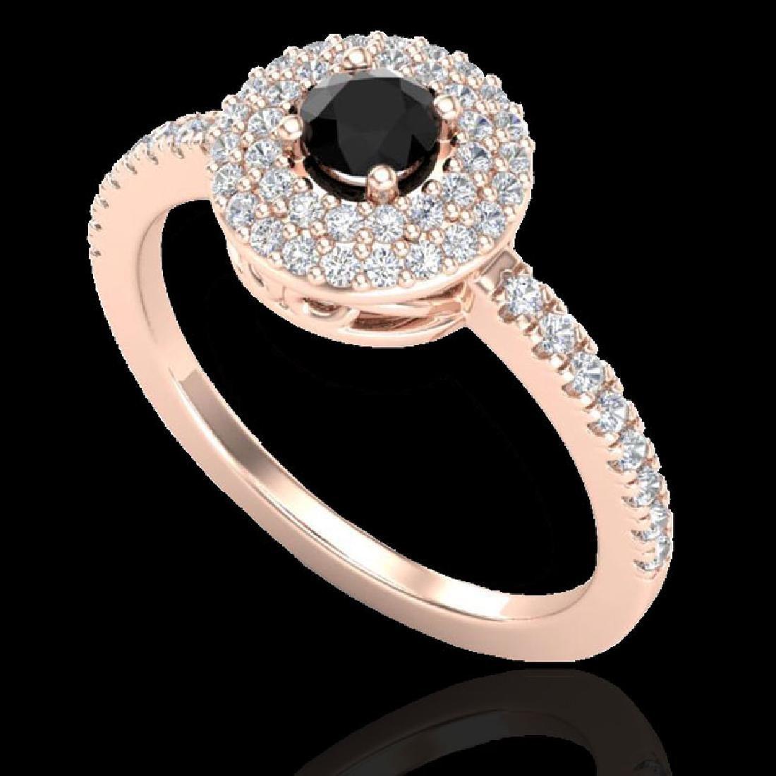 0.80 CTW Micro VS/SI Diamond Designer Ring 14K Rose - 2