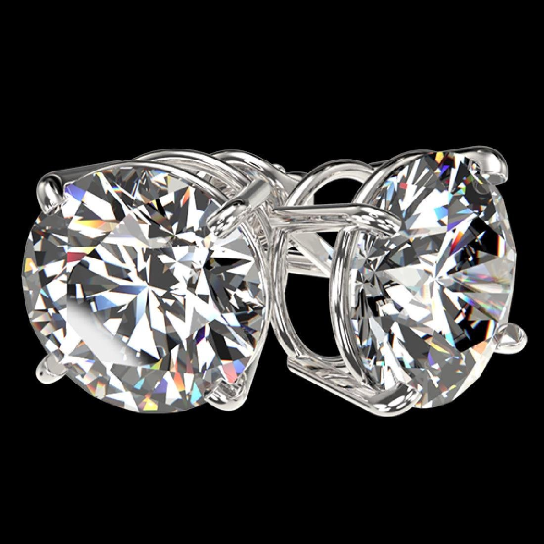 4 CTW Certified H-I Quality Diamond Solitaire Stud - 3