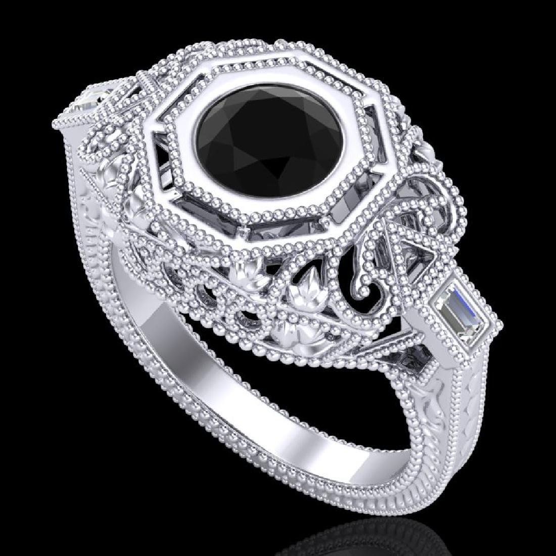 1.13 CTW Fancy Black Diamond Solitaire Engagement Art