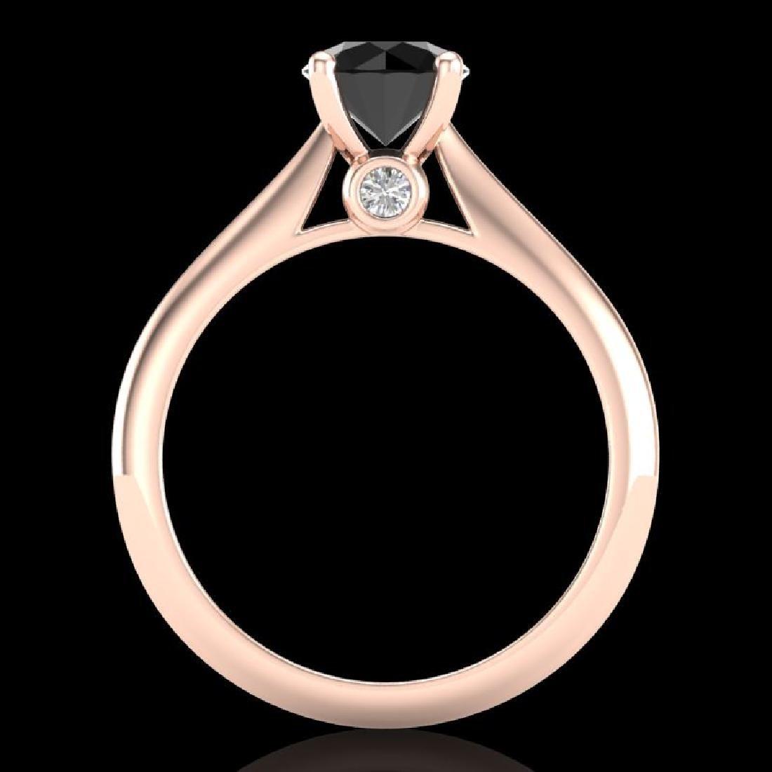 1.08 CTW Fancy Black Diamond Solitaire Engagement Art - 3