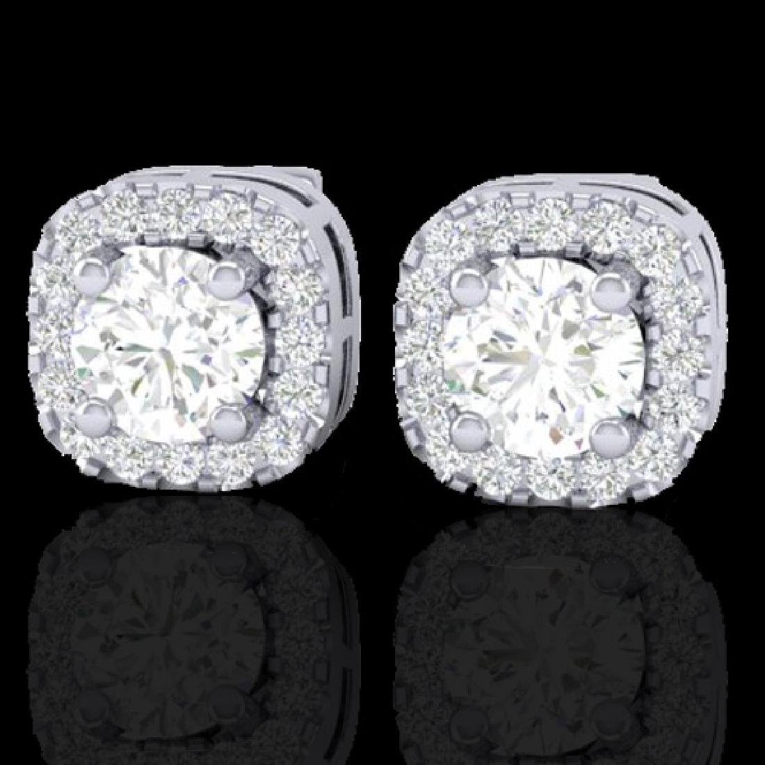 0.75 CTW Micro Pave VS/SI Diamond Earrings Designer