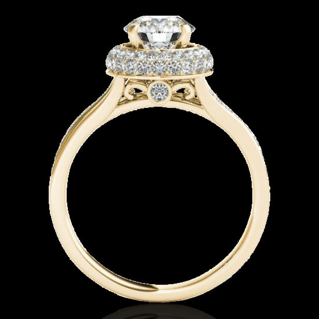 1.85 CTW H-SI/I Certified Diamond Solitaire Halo Ring - 2