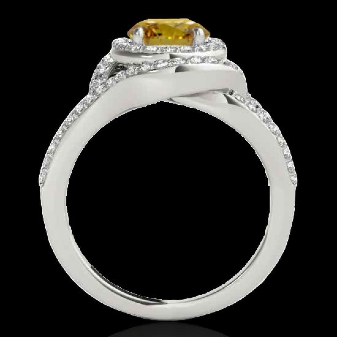 2.15 CTW Certified SI/I Fancy Intense Yellow Diamond - 2