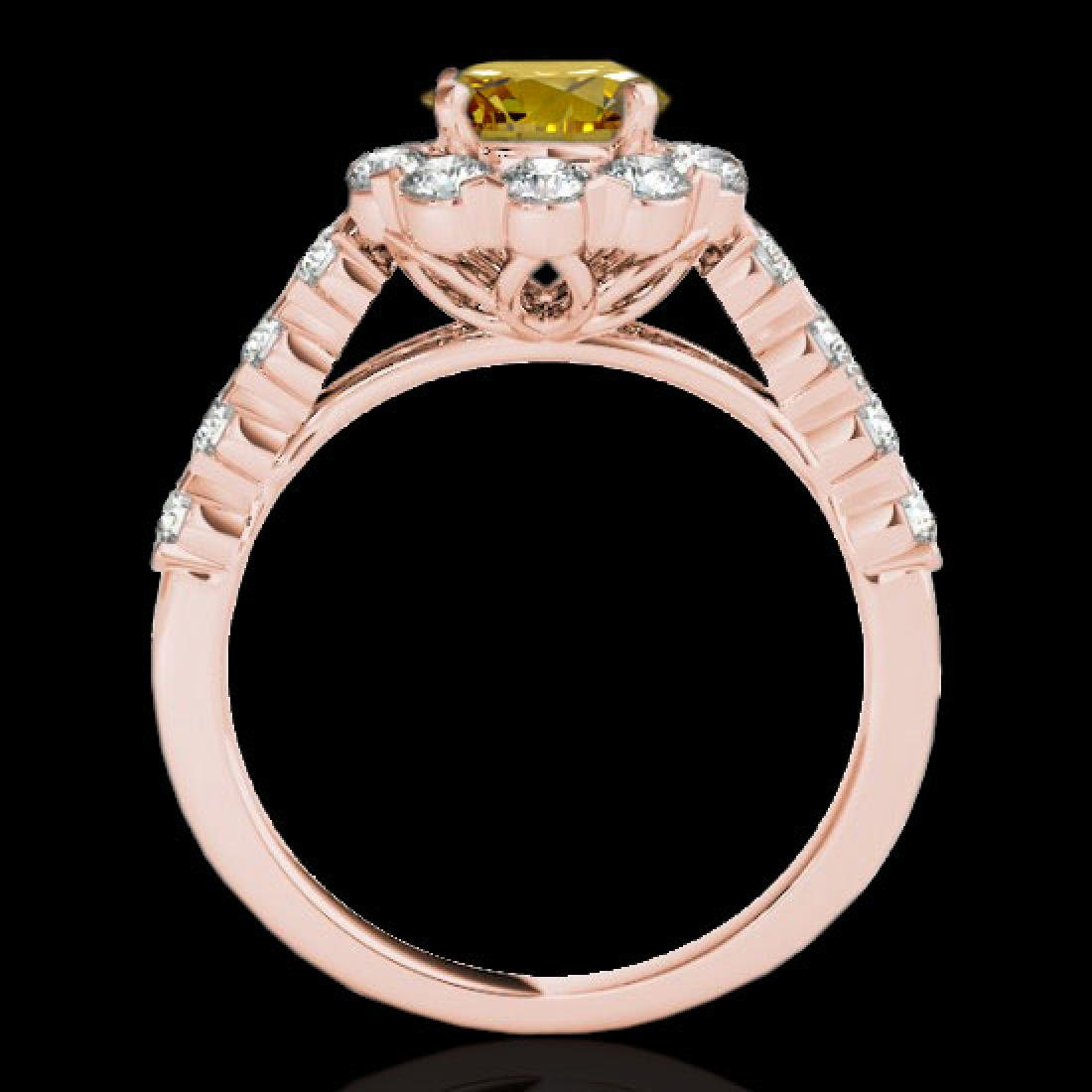 3 CTW Certified SI/I Fancy Intense Yellow Diamond - 2