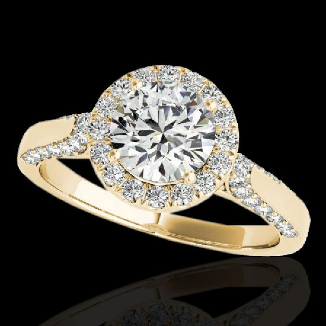 2.15 CTW H-SI/I Certified Diamond Solitaire Halo Ring