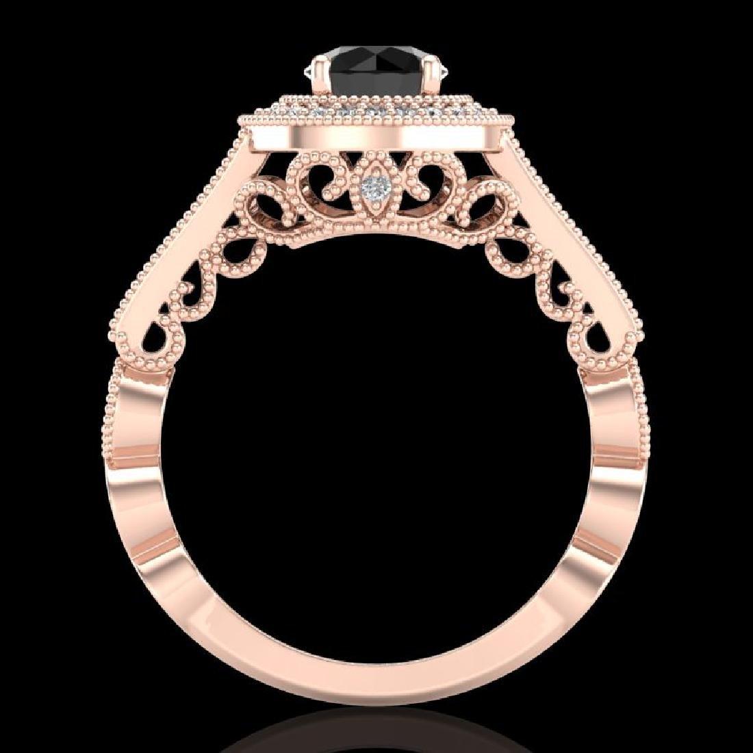 1.12 CTW Fancy Black Diamond Solitaire Engagement Art - 3