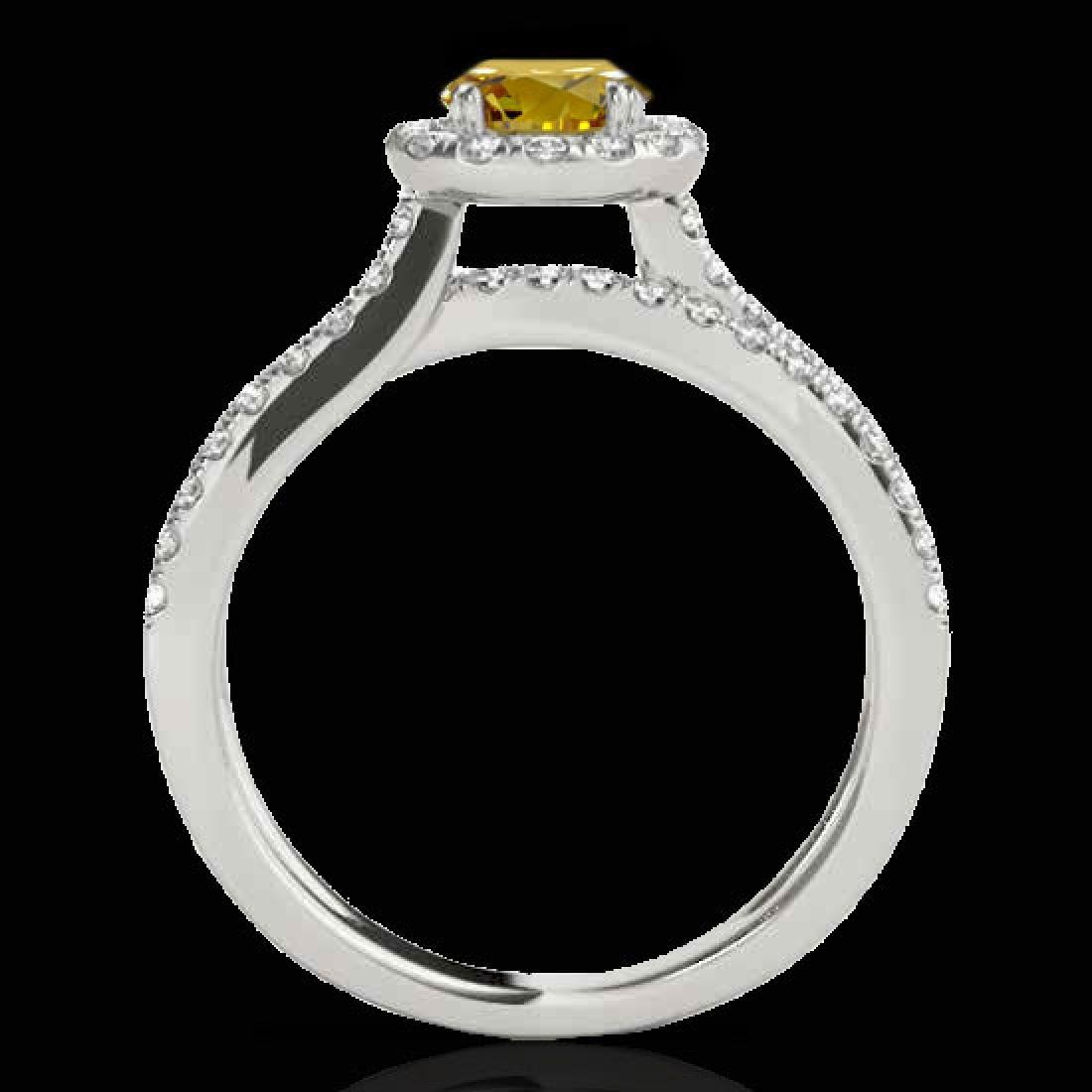 1.55 CTW Certified SI/I Fancy Intense Yellow Diamond - 2
