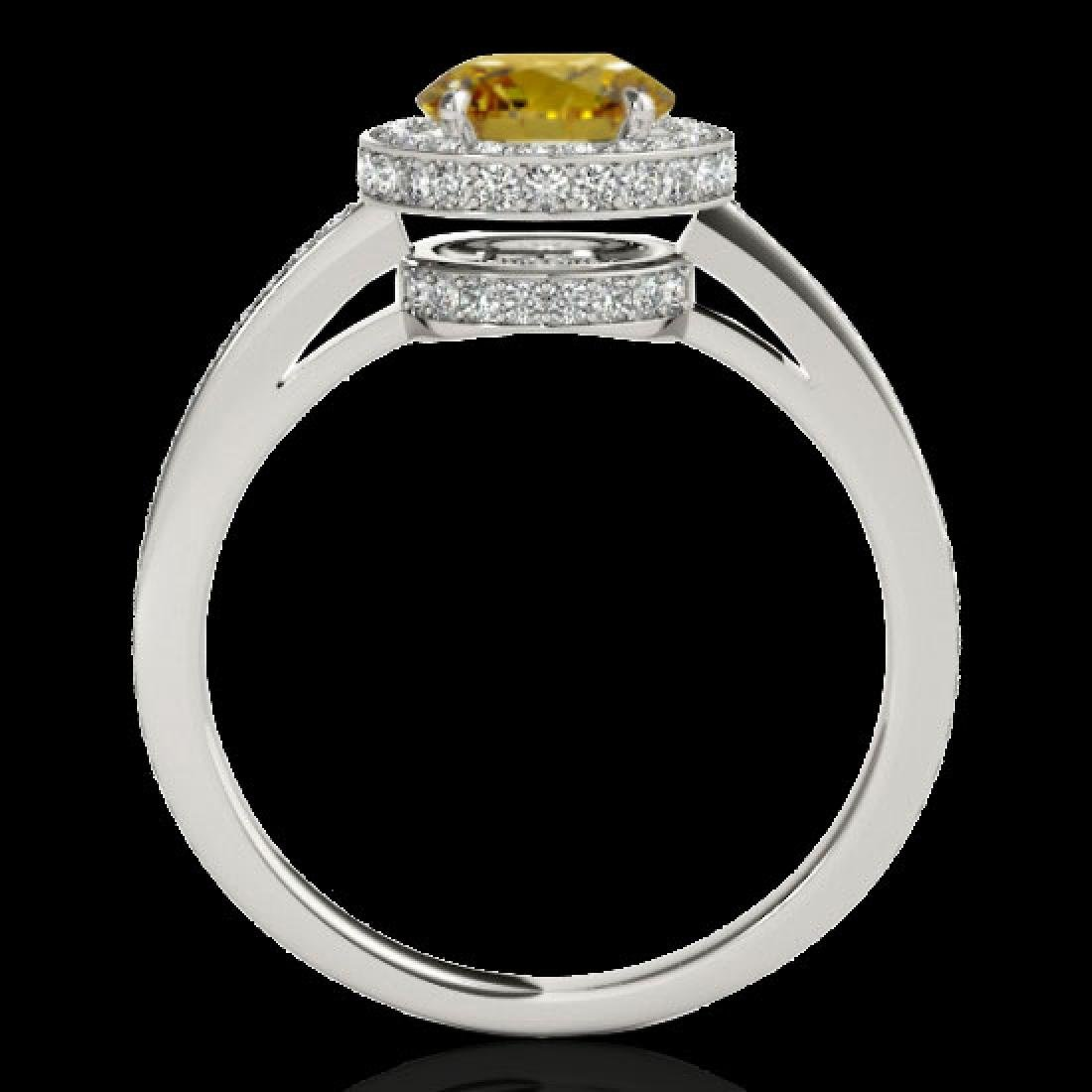 1.55 CTW Certified SI/I Fancy Intense Yellow Diamond - 2