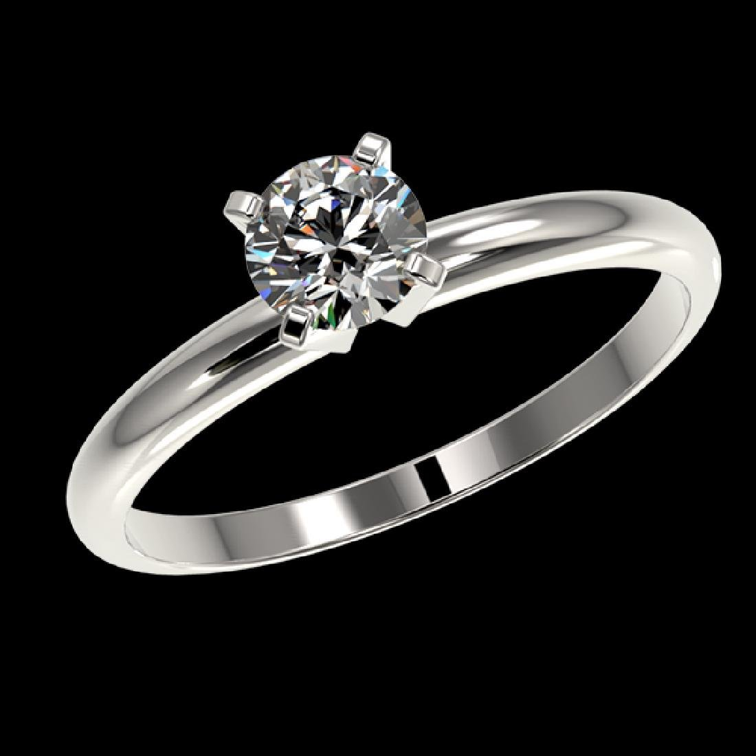 0.54 CTW Certified H-SI/I Quality Diamond Solitaire - 2