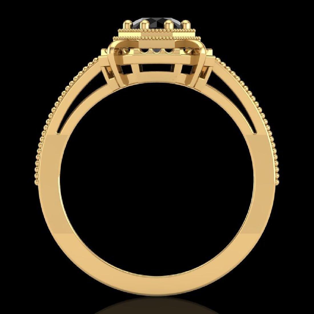 0.53 CTW Fancy Black Diamond Solitaire Engagement Art - 3
