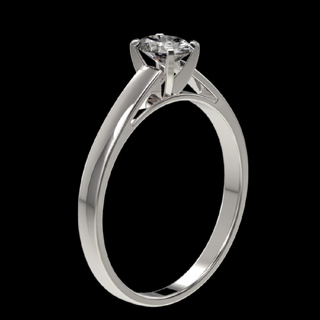 0.50 CTW Certified VS/SI Quality Oval Diamond - 3