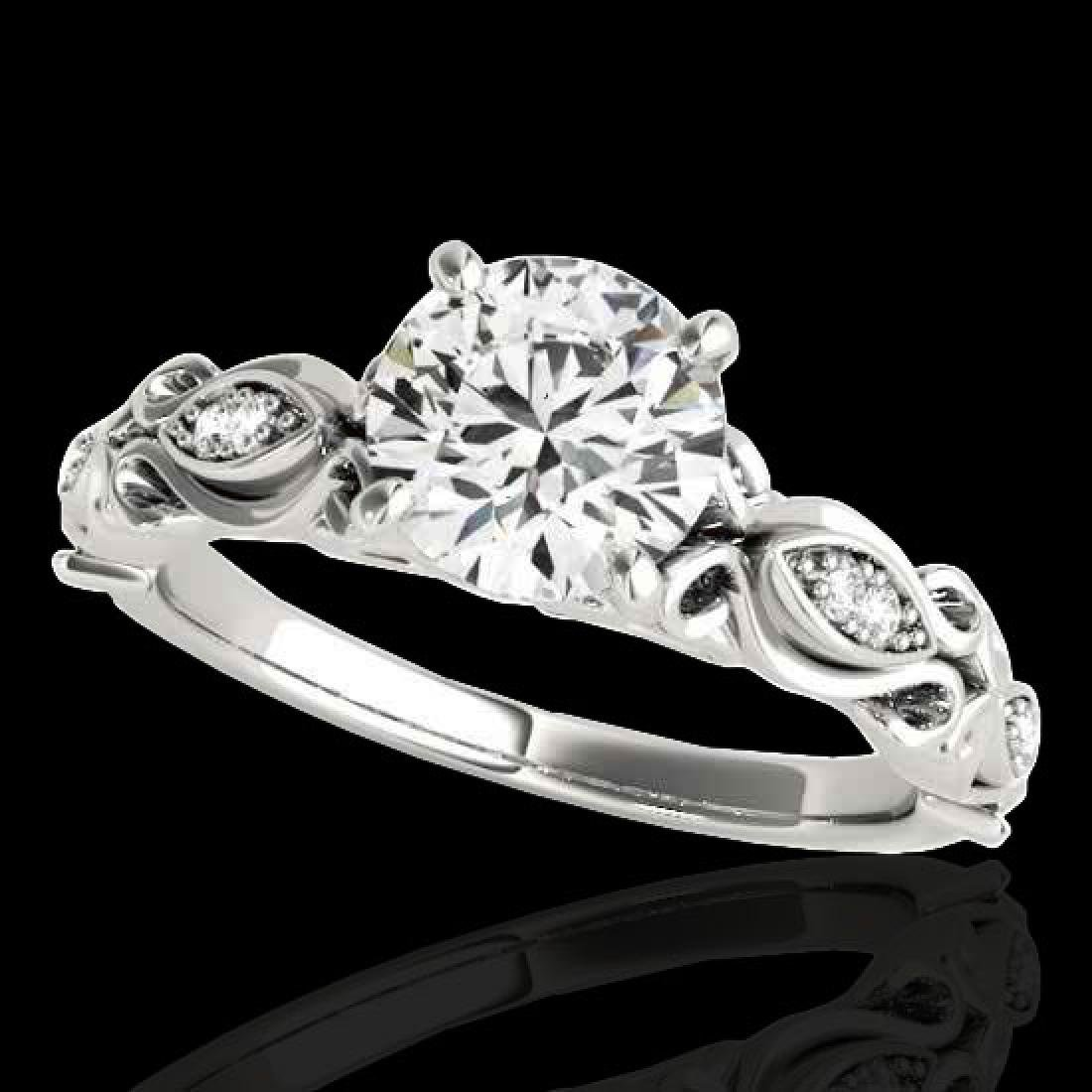 1.1 CTW H-SI/I Certified Diamond Solitaire Antique Ring