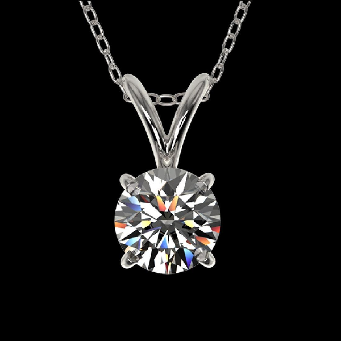 0.51 CTW Certified H-SI/I Quality Diamond Solitaire