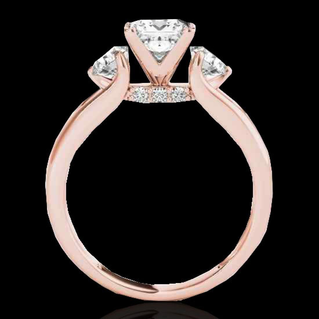 1.6 CTW VS/SI Certified Princess Cut Diamond 3 Stone - 2