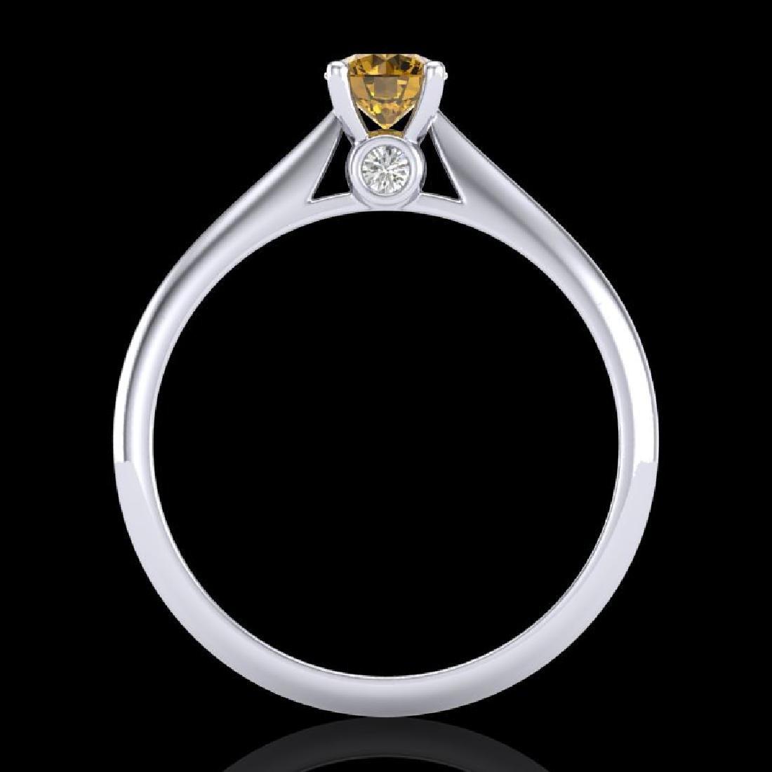 0.4 CTW Intense Fancy Yellow Diamond Engagement Art - 3