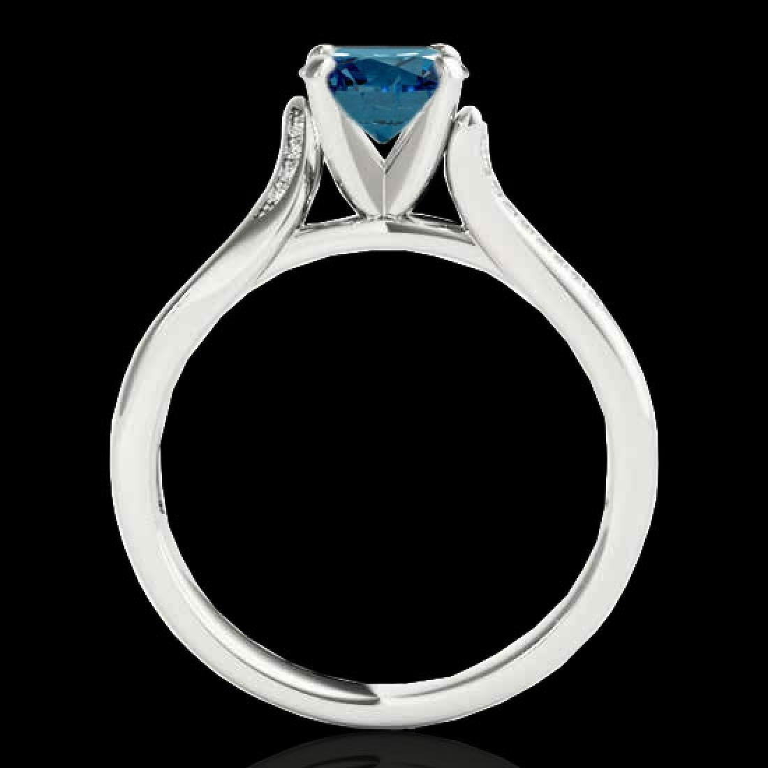 1.18 CTW SI Certified Fancy Blue Diamond Solitaire Ring - 2