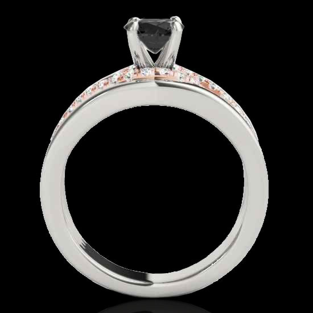1.55 CTW Certified VS Black Diamond Solitaire Ring 10K - 2