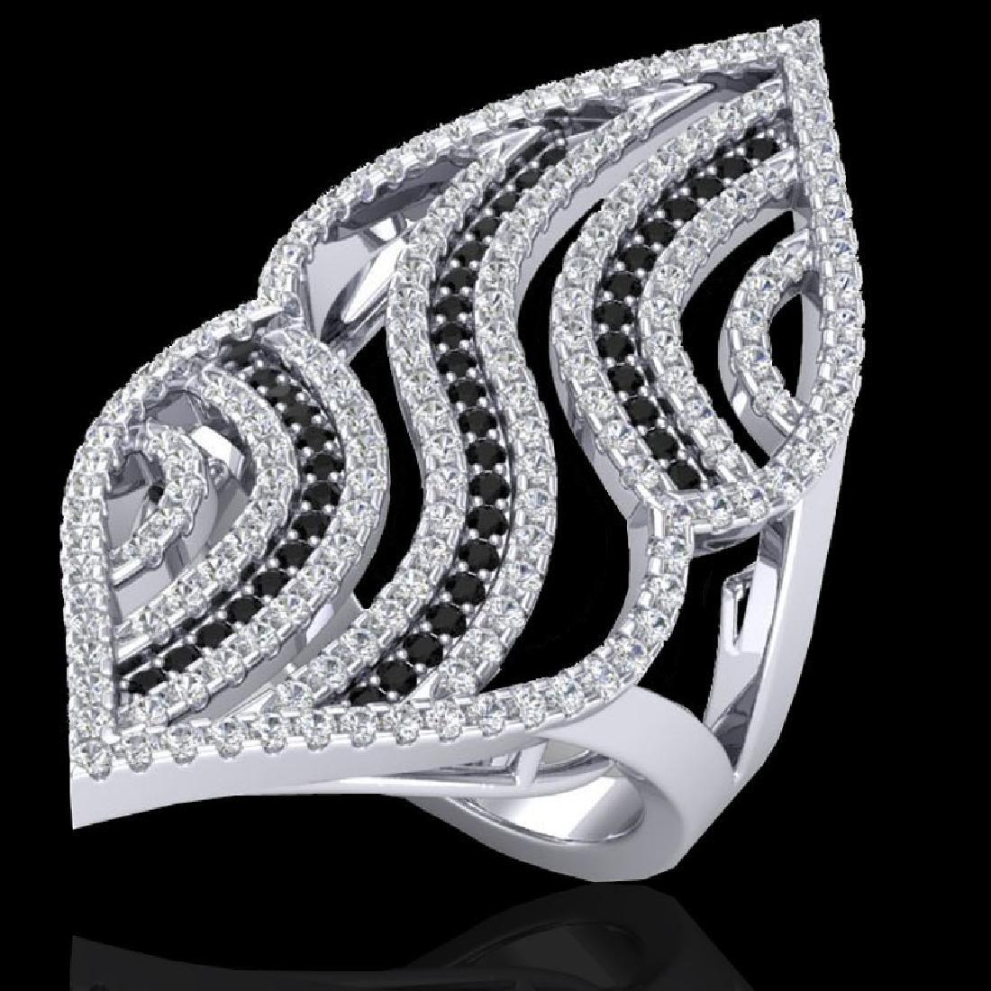 2 CTW Micro Pave Black & White VS/SI Diamond Designer