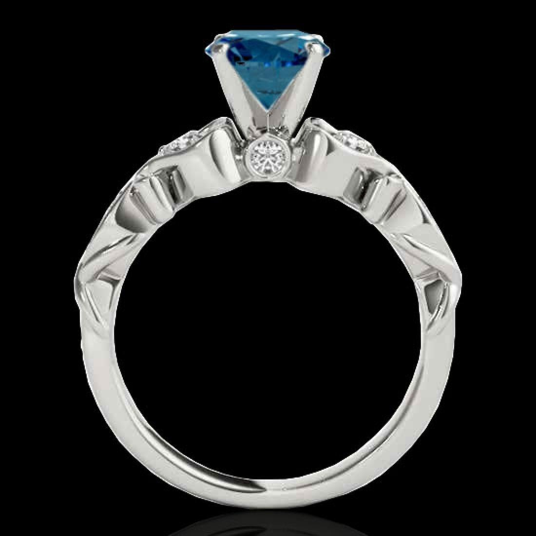 1.15 CTW SI Certified Fancy Blue Diamond Solitaire - 2