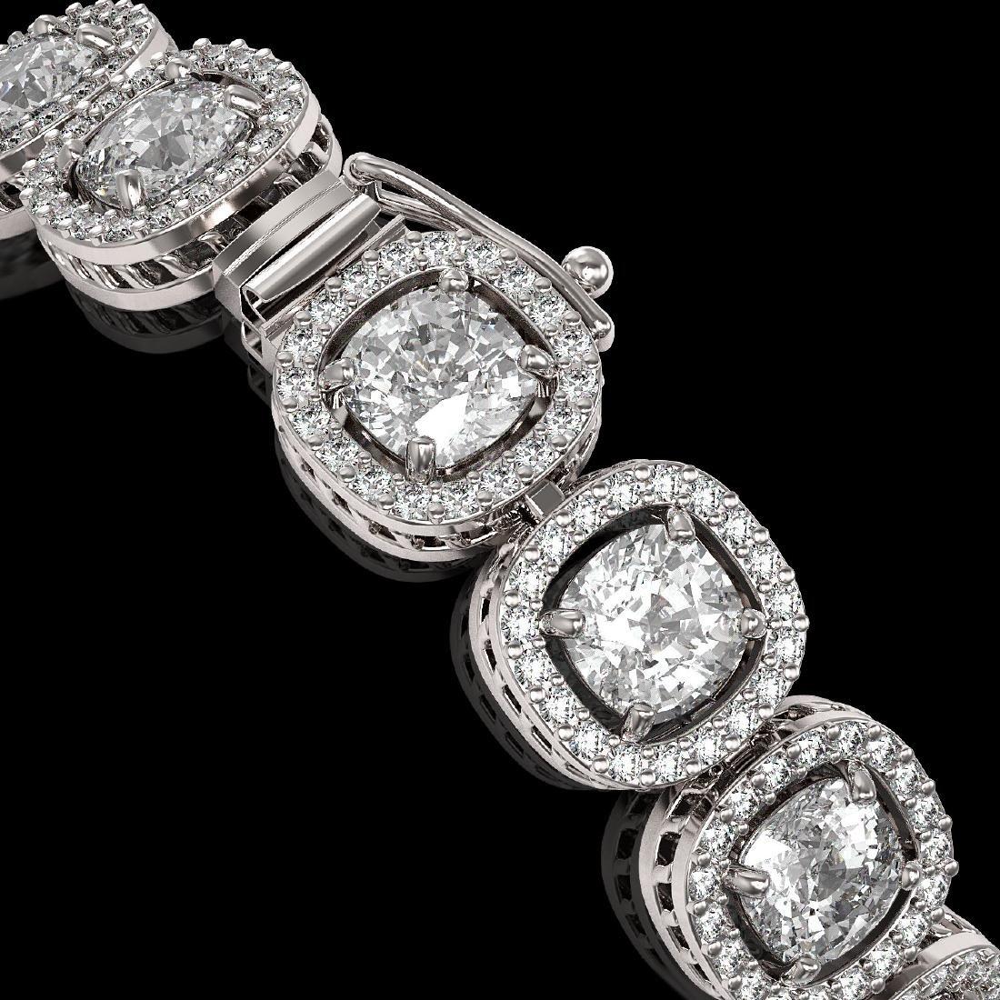 14.41 CTW Cushion Diamond Designer Bracelet 18K White - 3