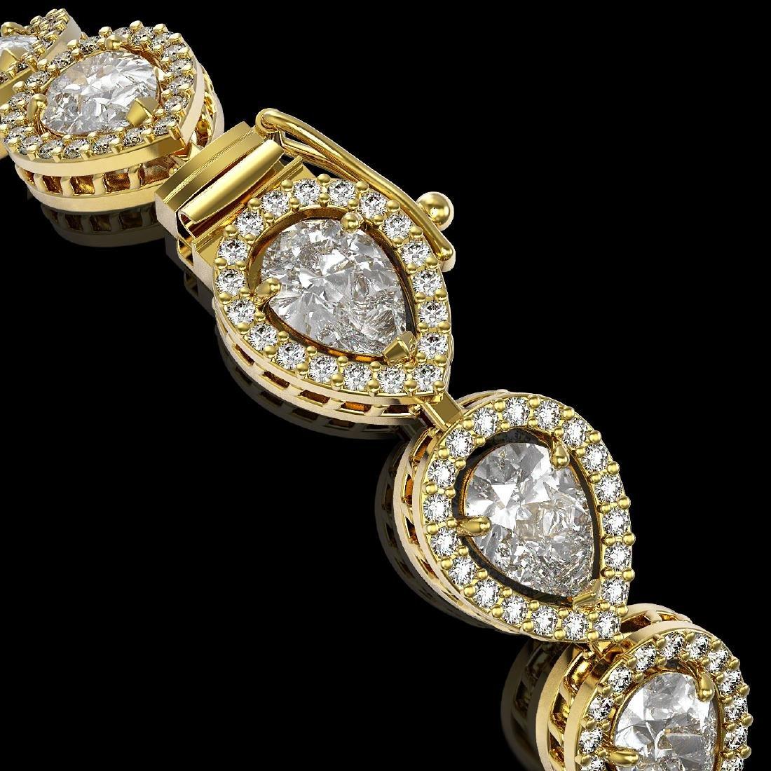 12.38 CTW Pear Diamond Designer Bracelet 18K Yellow - 3
