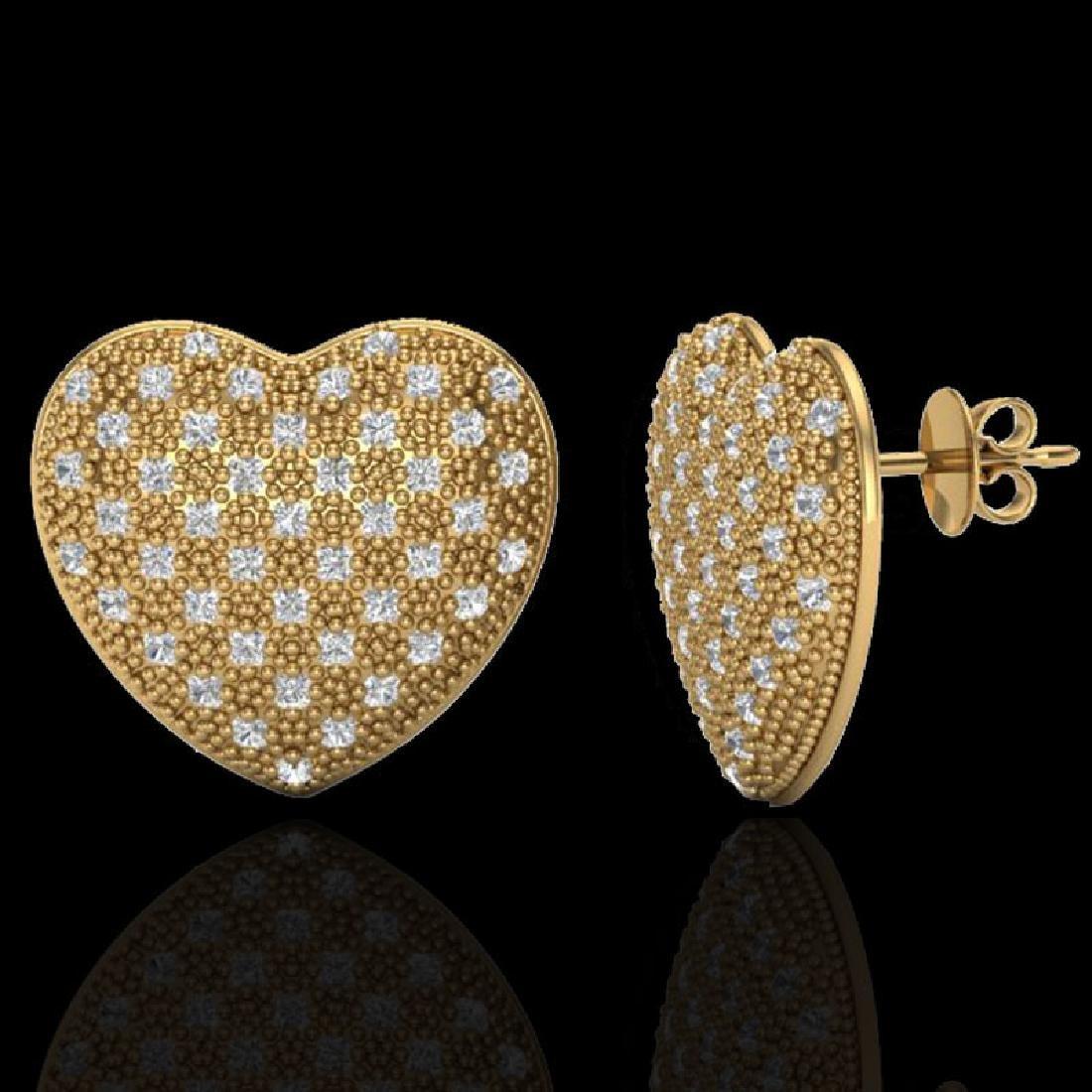 1.50 CTW Designer Micro Pave VS/SI Diamond Heart - 2