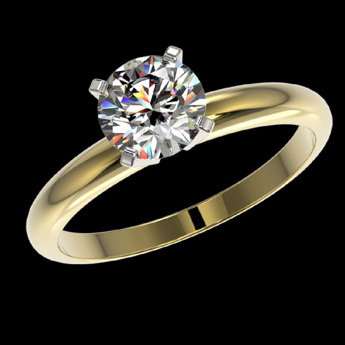 1.28 CTW Certified H-SI/I Quality Diamond Solitaire - 2