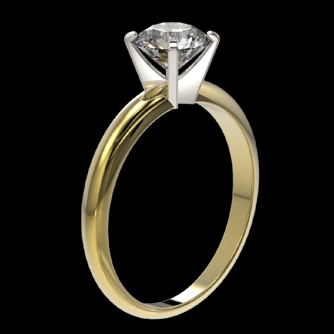 1.28 CTW Certified H-SI/I Quality Diamond Solitaire - 3