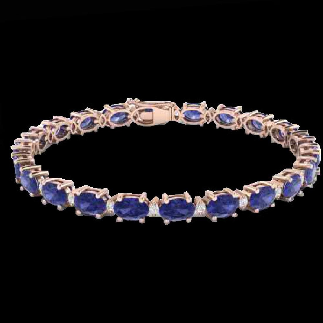 26.3 CTW Tanzanite & VS/SI Certified Diamond Eternity - 2
