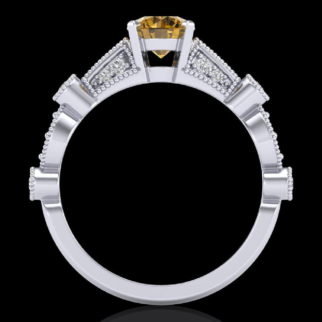 1.03 CTW Intense Fancy Yellow Diamond Engagement Art - 3