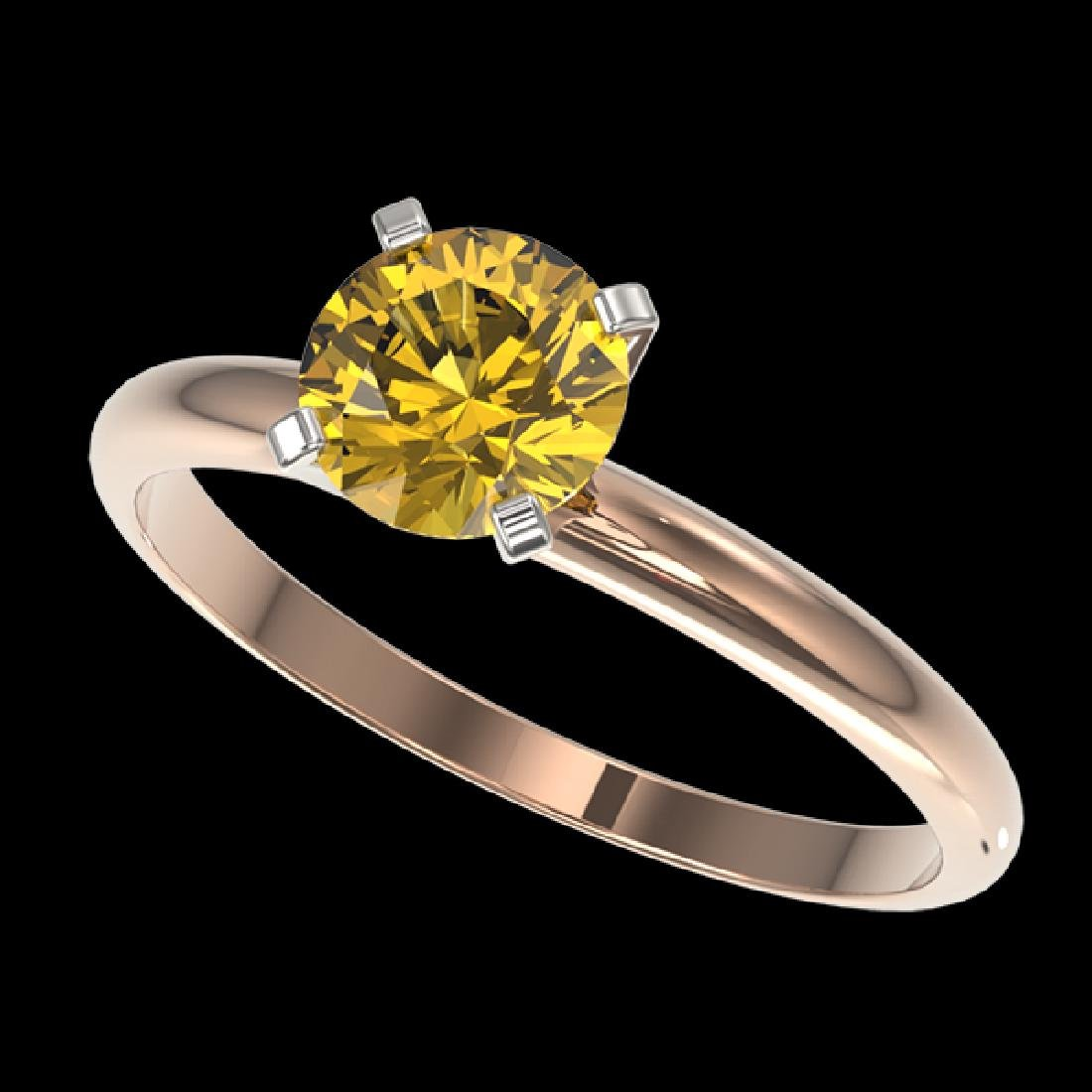 1.01 CTW Certified Intense Yellow SI Diamond Solitaire