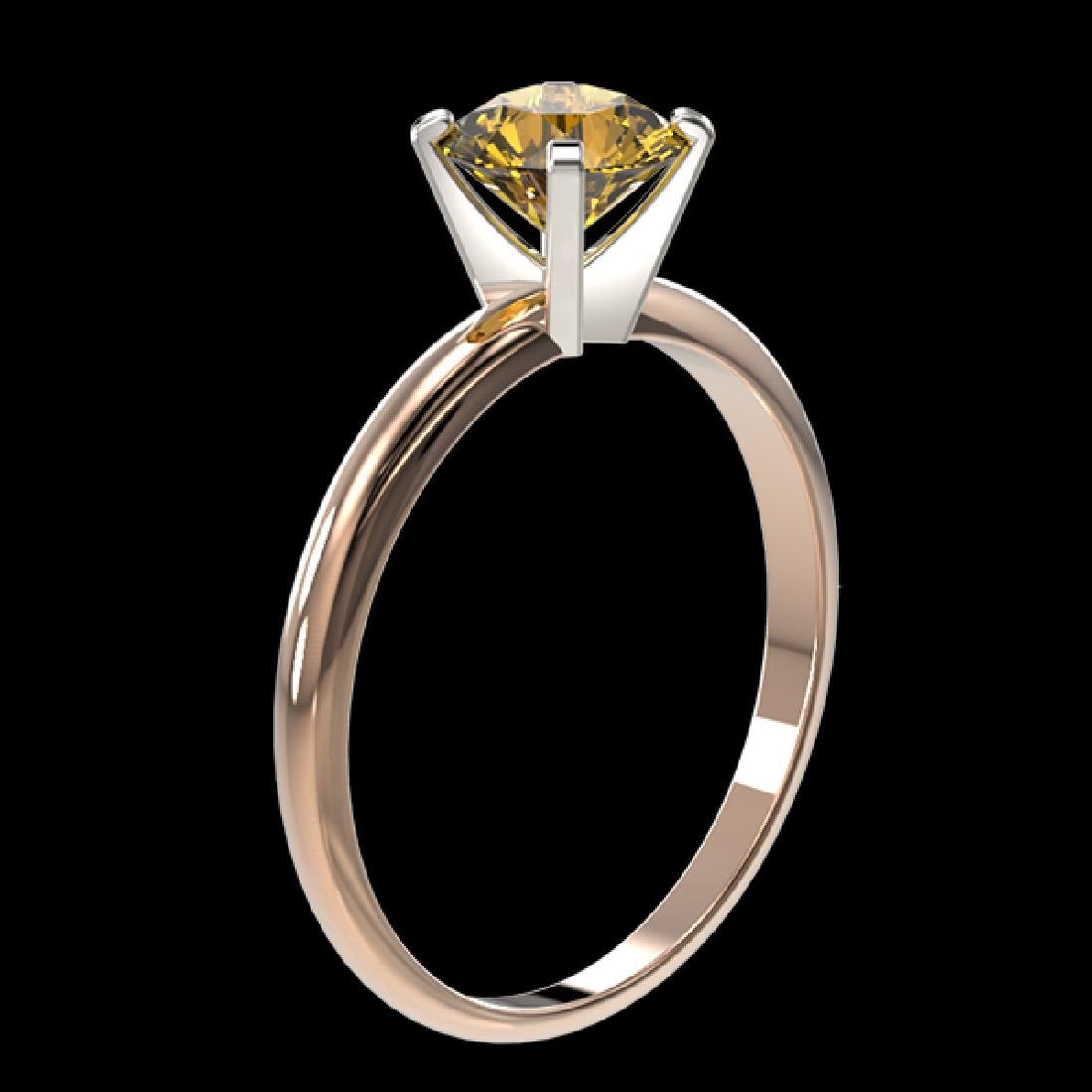 1.01 CTW Certified Intense Yellow SI Diamond Solitaire - 3