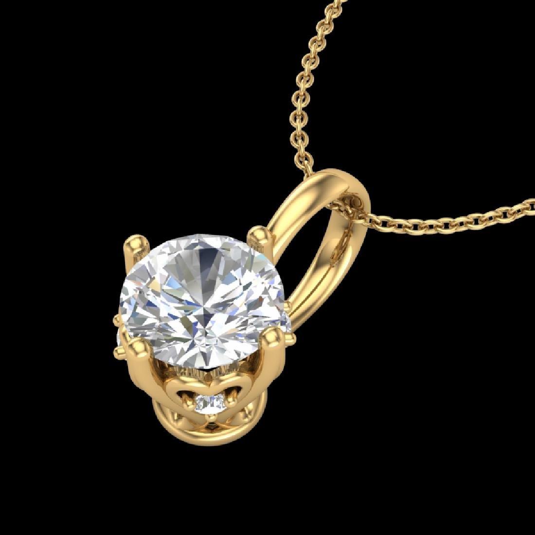 0.62 CTW VS/SI Diamond Art Deco Stud Necklace 18K - 2