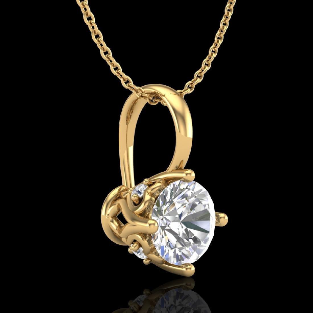 0.62 CTW VS/SI Diamond Art Deco Stud Necklace 18K - 3