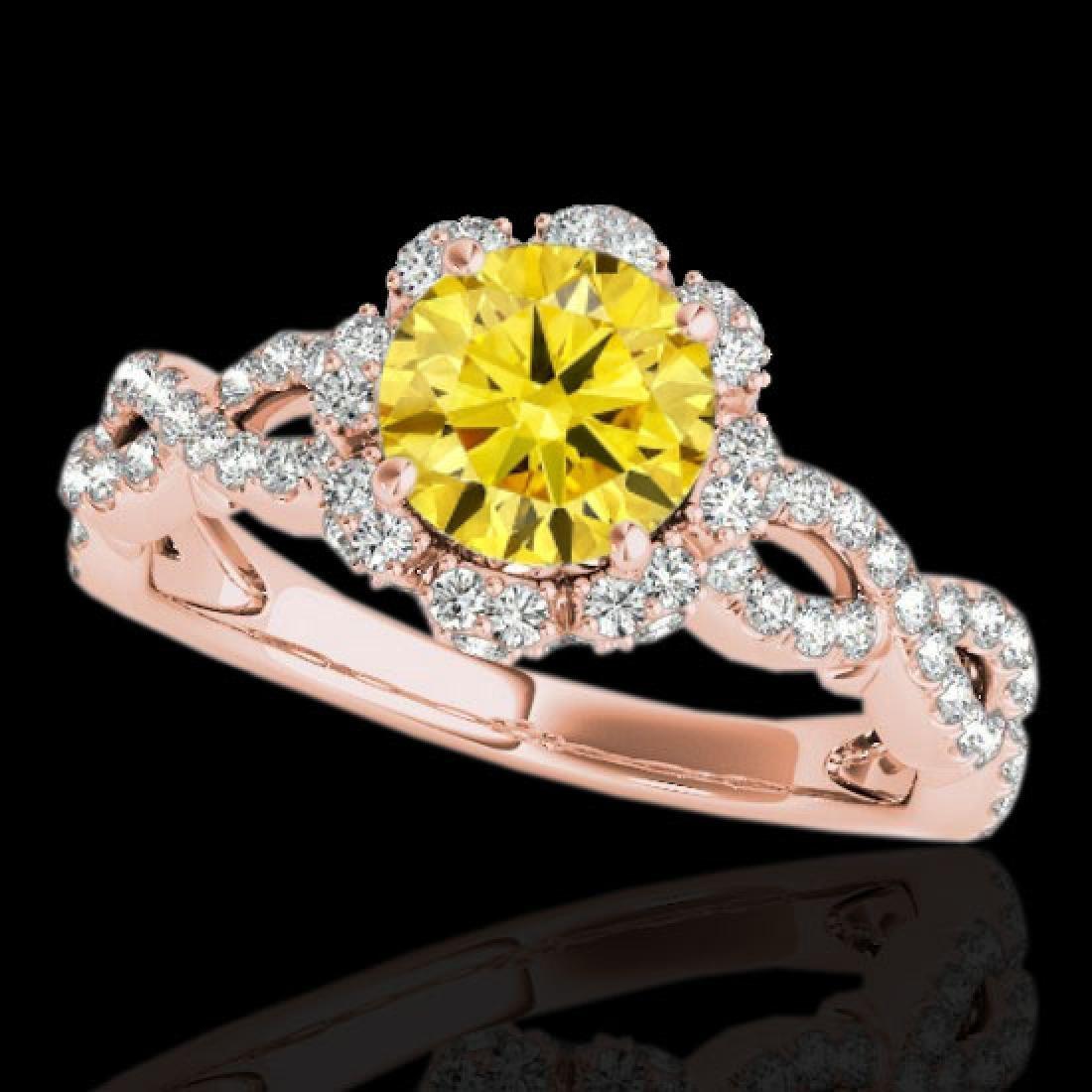 1.69 CTW Certified SI/I Fancy Intense Yellow Diamond