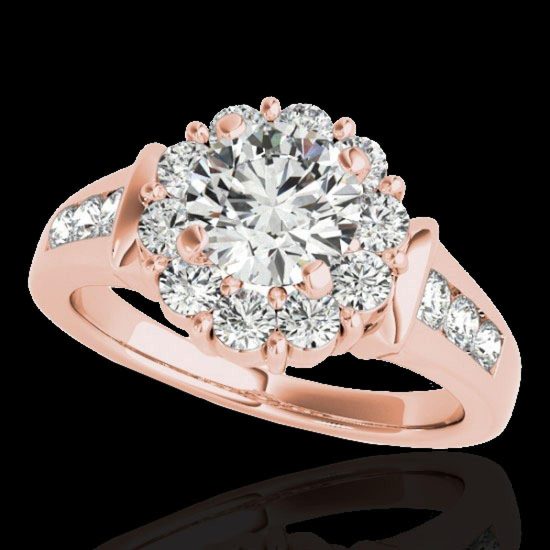 1.9 CTW H-SI/I Certified Diamond Solitaire Halo Ring