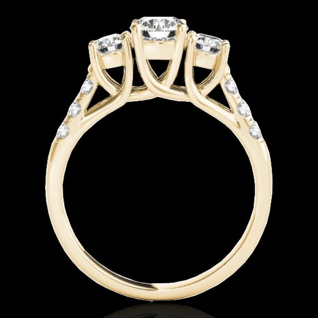 3.25 CTW H-SI/I Certified Diamond 3 Stone Ring 10K - 2