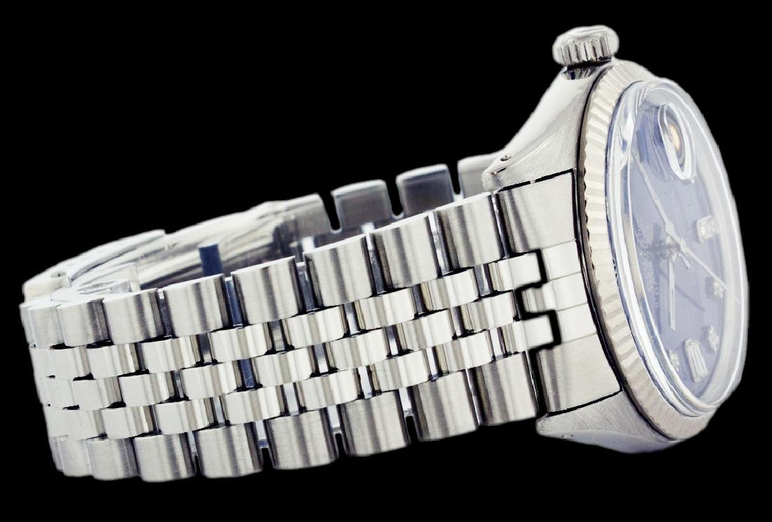 Rolex Ladies Stainless Steel, Diamond Dial with Fluted - 3