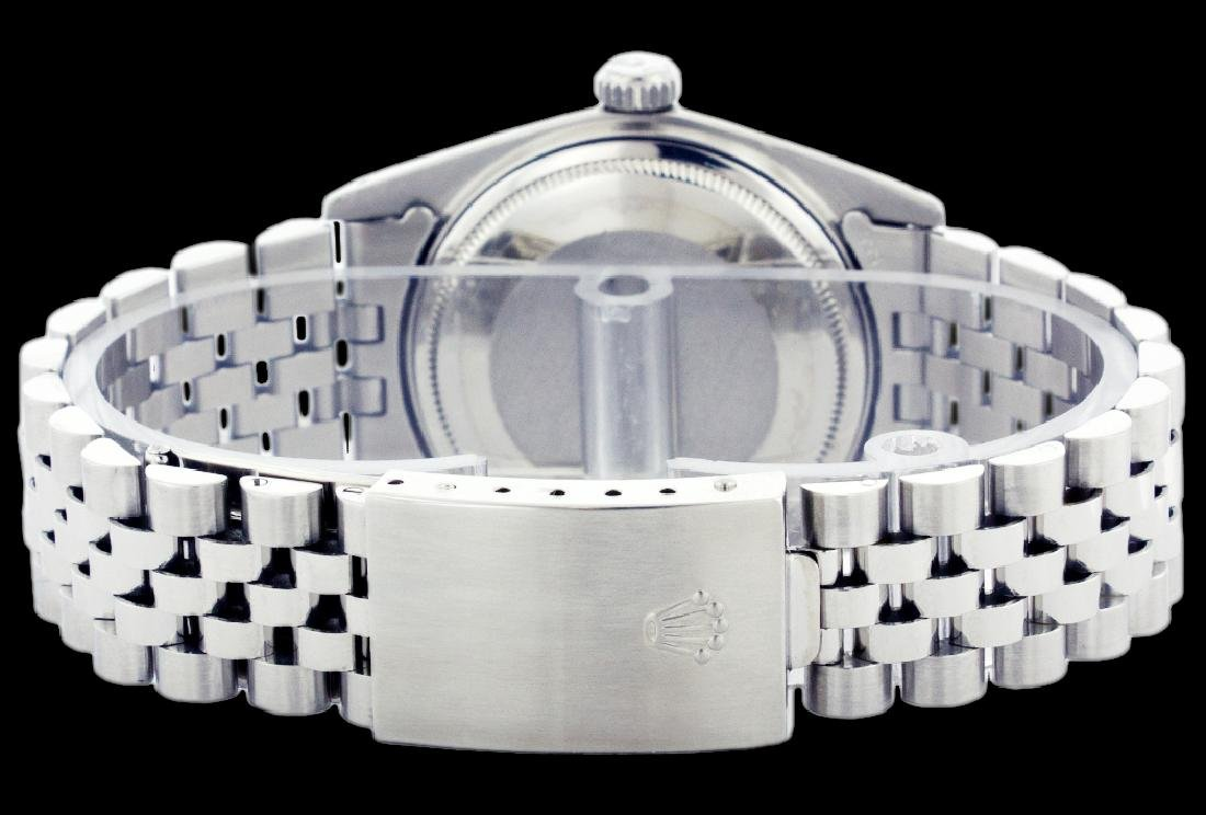 Rolex Ladies Stainless Steel, Diamond Dial with Fluted - 4