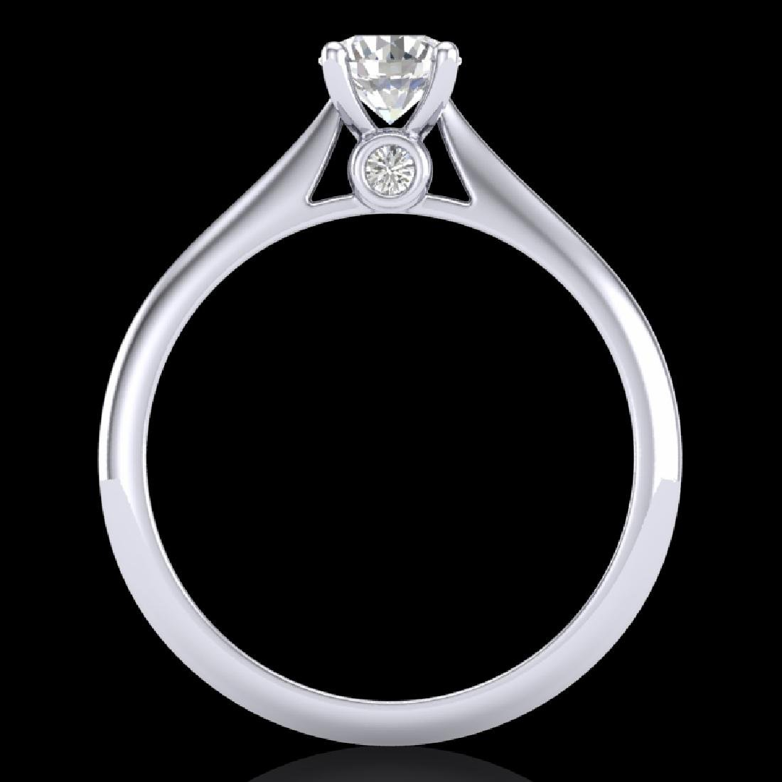 0.56 CTW VS/SI Diamond Solitaire Art Deco Ring 18K - 3