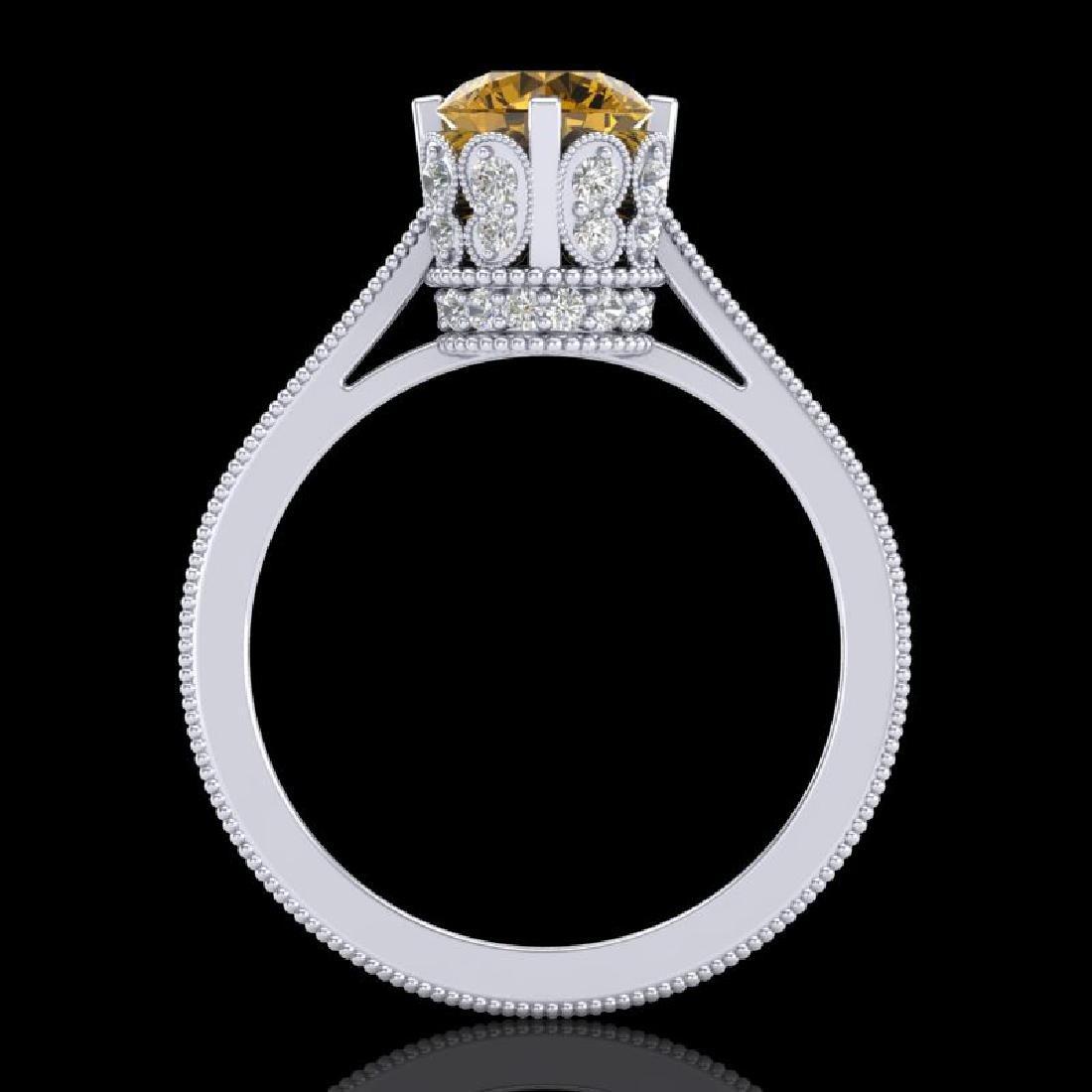 1.5 CTW Intense Fancy Yellow Diamond Engagement Art - 3