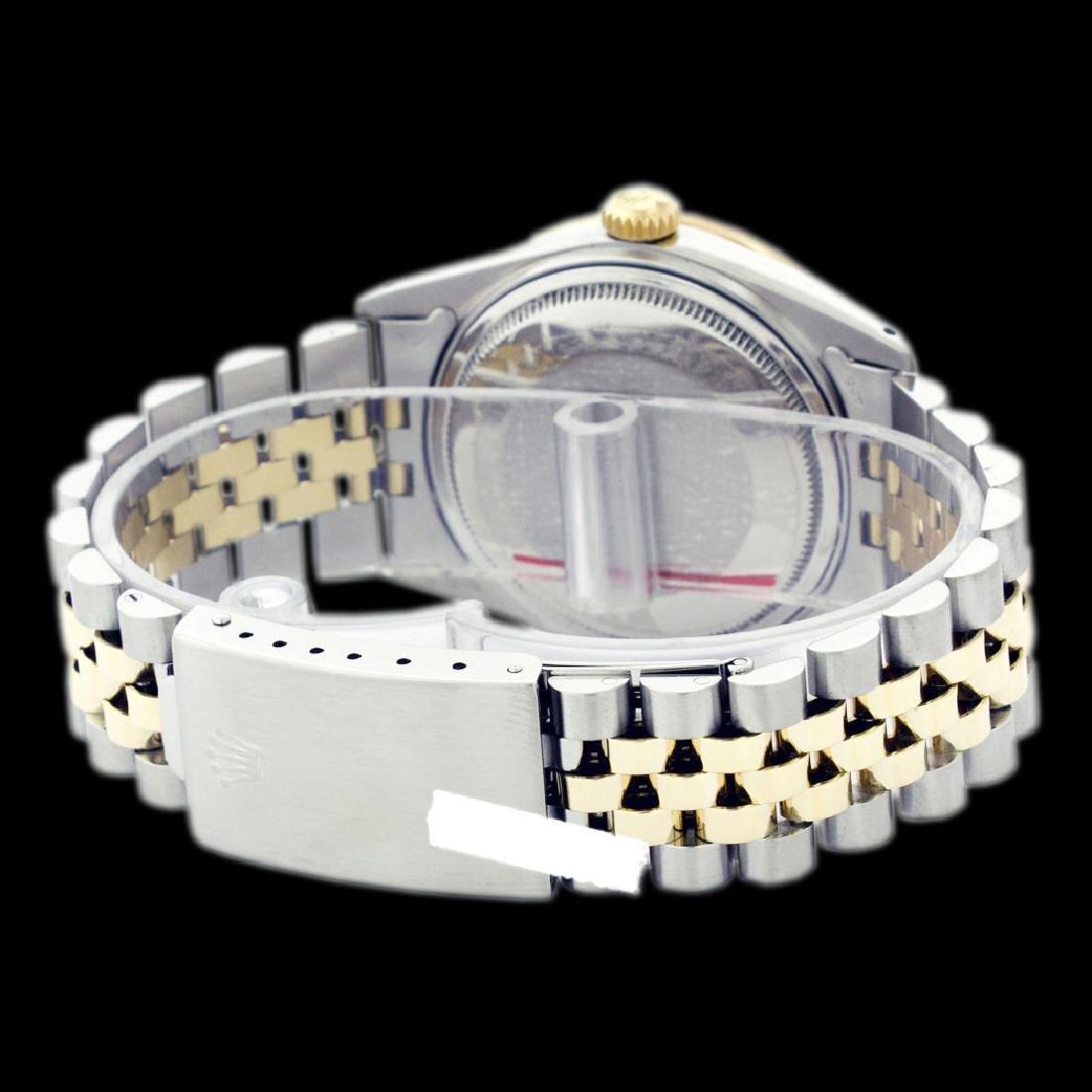Rolex Men's Two Tone 14K Gold/SS, QuickSet, Roman Dial - 3